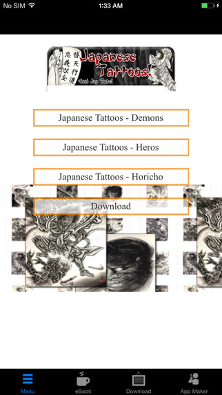 Japanese Tattoos:400 designs in total from Horicho to Demons to Japanese Heros...