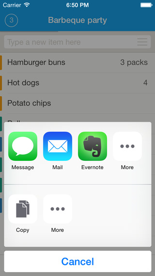 Grocery List - Remember To Buy Apps for iPhone/iPad screenshot
