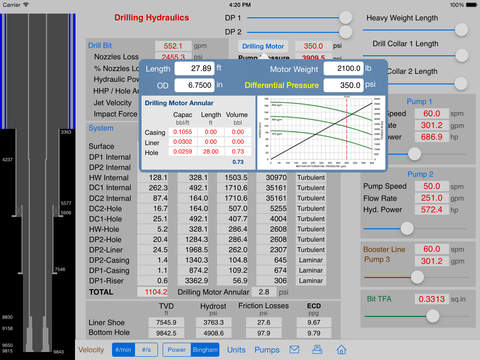 Drilling Hydraulics for iPad iPad Screenshot 2