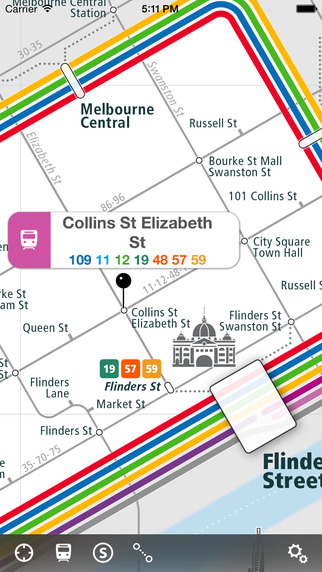 Melbourne Rail Map