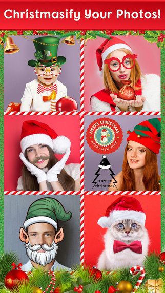 Merry Christmas Photo Cards Maker - Santa Meme Creator for Xmas Pics Effects