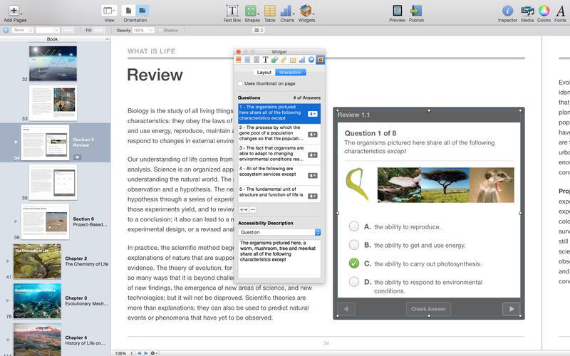 苹果电子教科书 iBooks Author for Mac