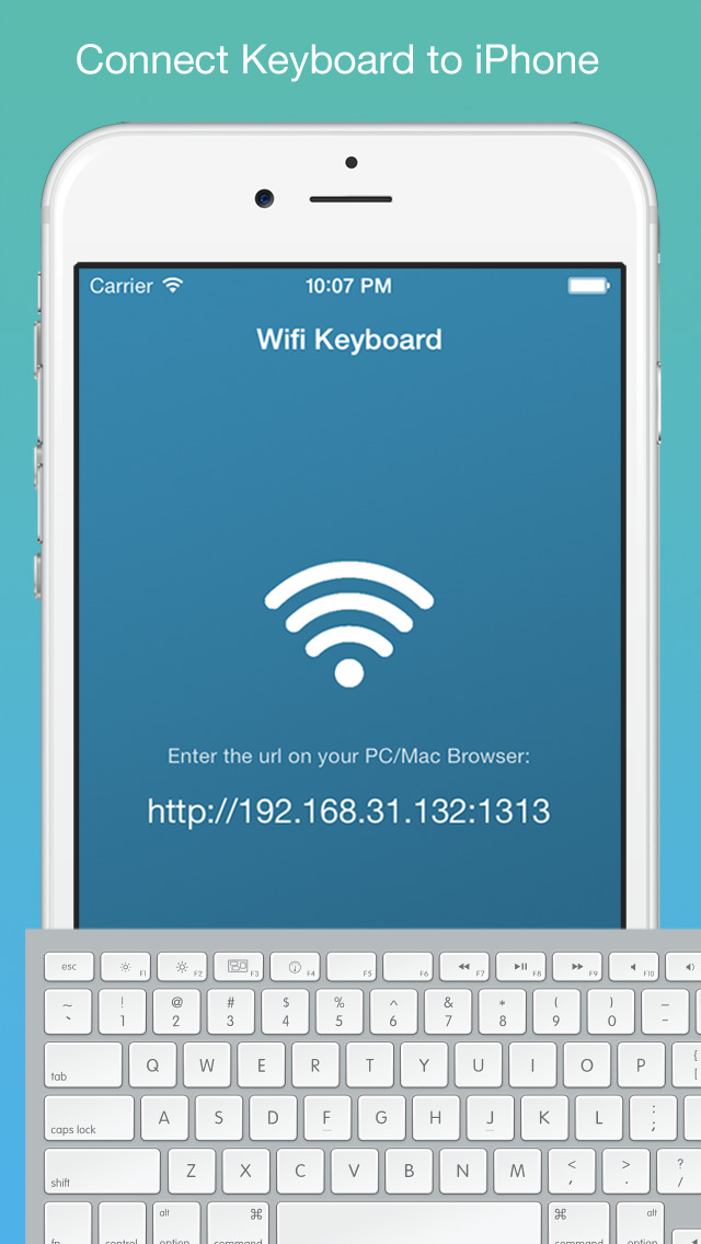 hook up keyboard to iphone