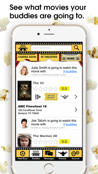 Reel Buddy - See Showtimes Buy Movie Tickets and Find Movie Friends