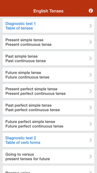 English grammar tenses Test Use incl. going to passive voice time clauses conditional if clauses ind