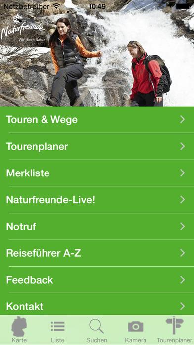 Tourenportal - zu den schönsten Zielen und Berggipfeln in Österreich und Bayern iPhone Screenshot 2