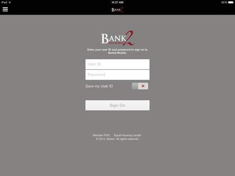 Bank2 Mobile for iPad