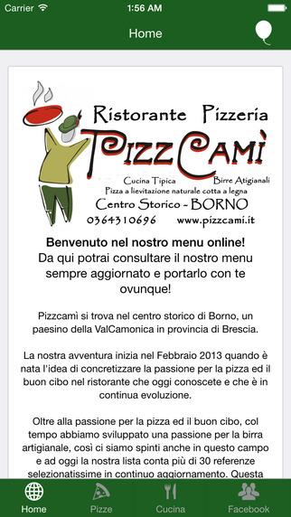PizzCamì - Il Menu è sempre con te