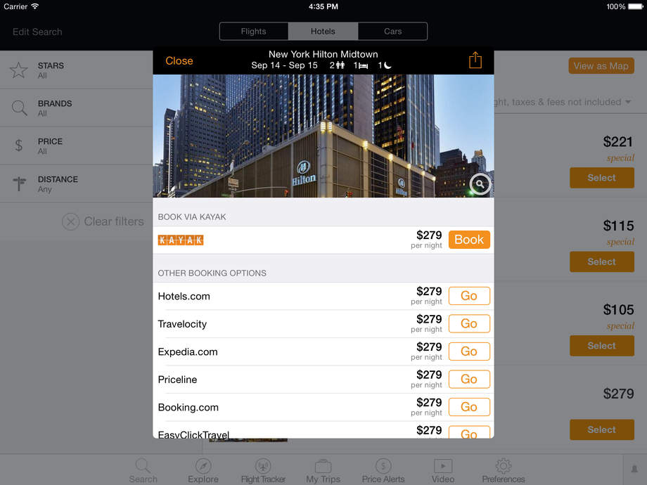 KAYAK PRO Flights, Hotels & Cars - iPhone 移动 Analytics 和App商店数据