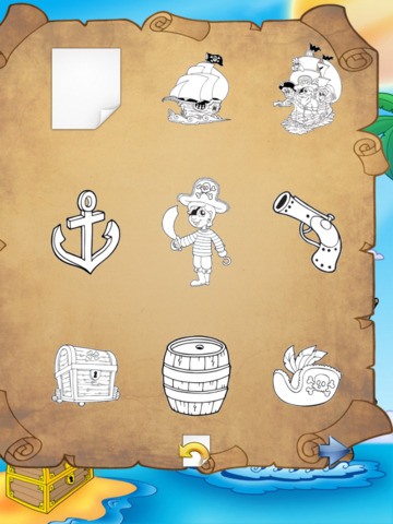 Pirate Coloring Book Free screenshot