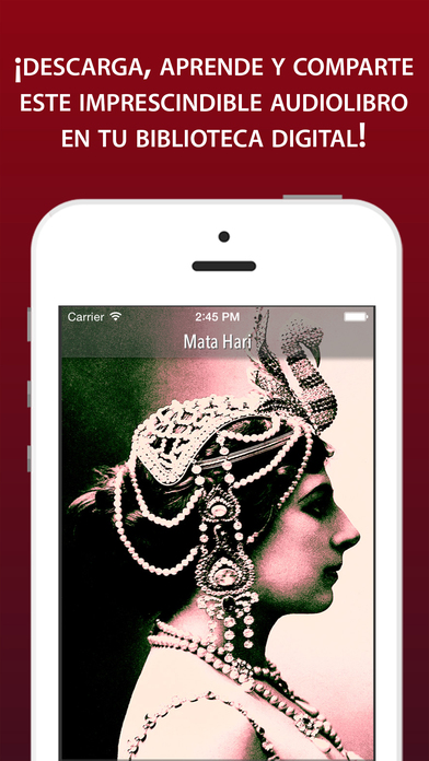 Audiolibro: Mata Hari iPhone Screenshot 1