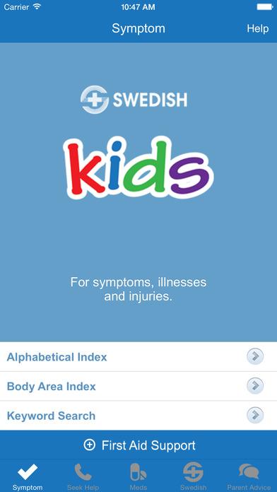 Swedish Kids Symptom Checker iPhone Screenshot 1