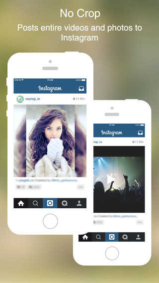 No Crop for Instagram - Post entire photos and videos to Instagram without cropping
