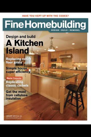 Fine homebuilding magazine free iphone ipad app app for Finehomebuilding com
