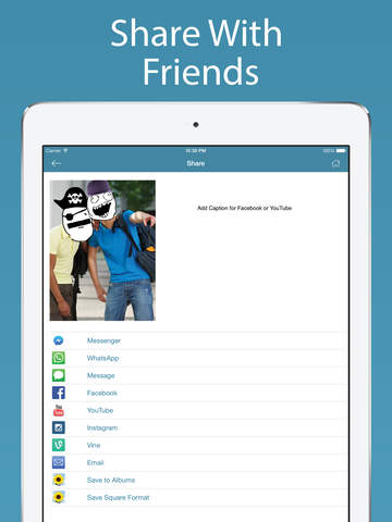 Screenshots of Video Rage Faces - Make Videos with Rage Comics and Funny Memes for iPad