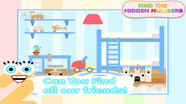 Find The Hidden Numbers - Fun Number Learning Game For Young Children