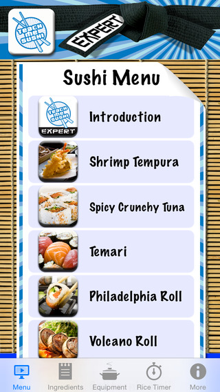 Teach Me Sushi Expert iPhone Screenshot 1