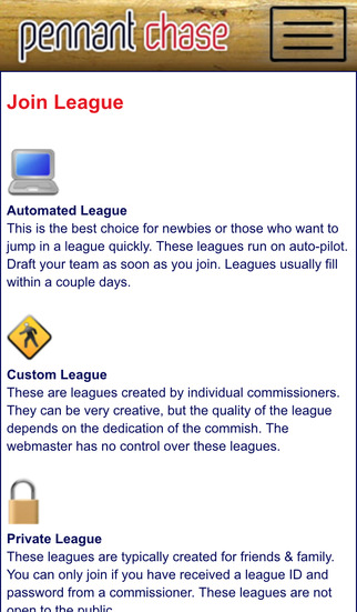 Baseball Sim Leagues at PennantChase iPhone Screenshot 2