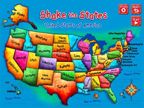 Shake the States - Fun Games for Kids Series