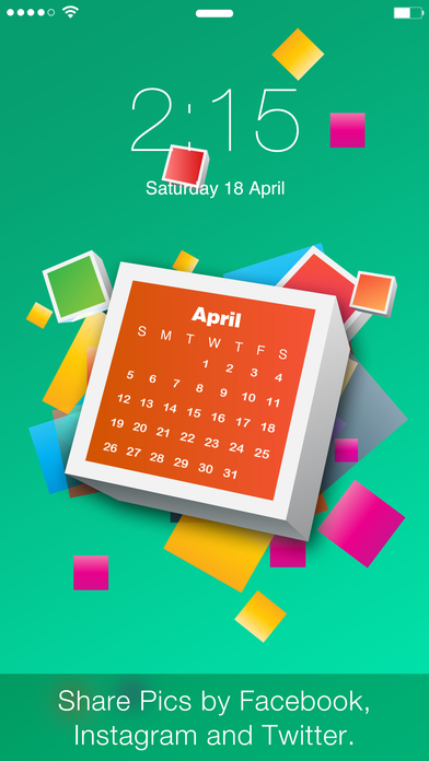 Calendar Wallpaper App : Calendar lock screens free wallpapers