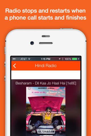 Screenshot 1 Hindi Radio - India Radio for Bollywood,  Hindi,  Desi Music with News