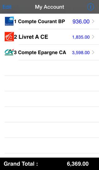 My Account Lite iPhone Screenshot 2