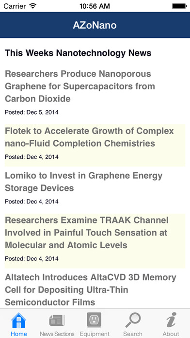AZoNano -The A to Z of Nanotechnology from AZoNano.com iPhone Screenshot 1