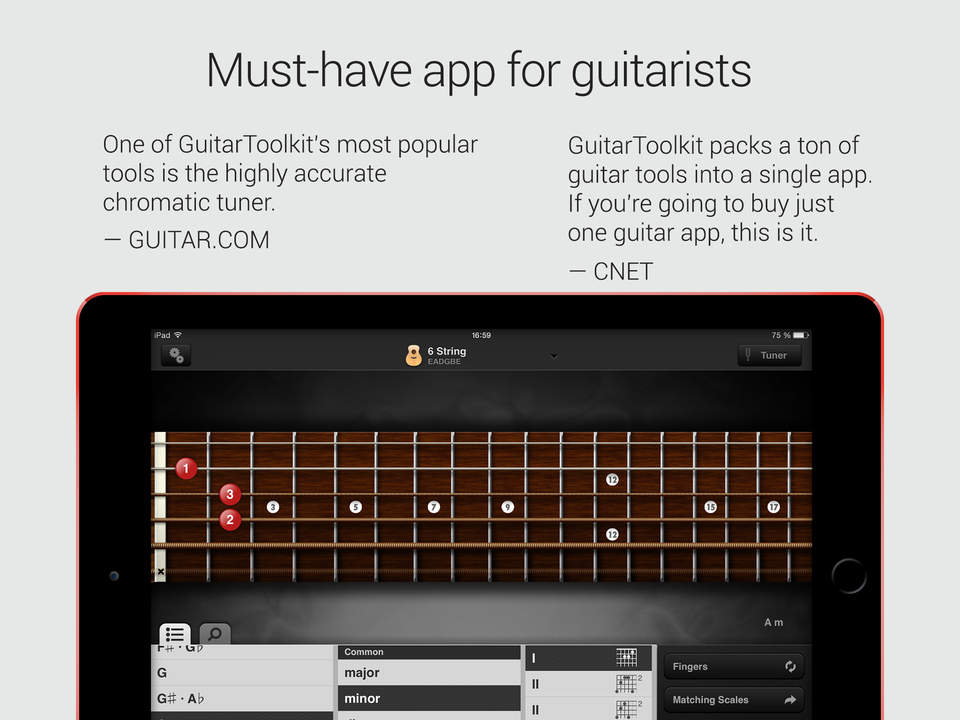 Guitartoolkit Chromatic Tuner Metronome Chords Scales And