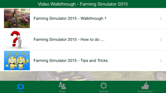 Video Walkthrough for Farming Simulator 2015