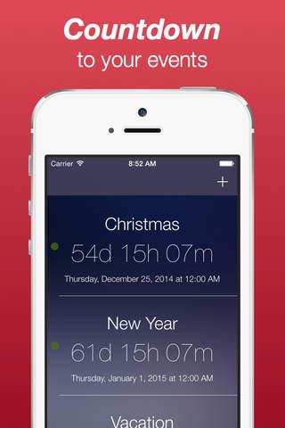 Countdown to Big Day screenshot 2