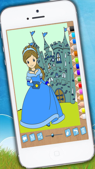 Paint and color princesses - Educational game for girls princesses fingerprinting