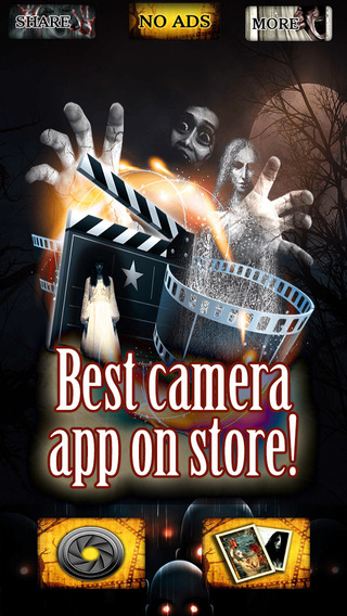 Haunted Hollywood Horror Pics Camera Sticker Game - Free Game