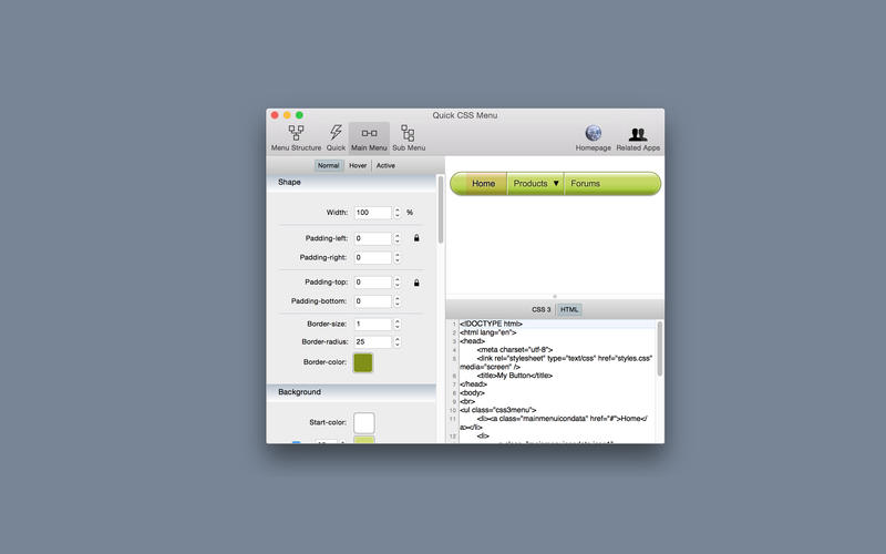Quick CSS Menu Screenshot - 3