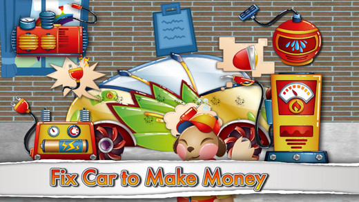 QCat - toddler Garage kids driving repair car game free