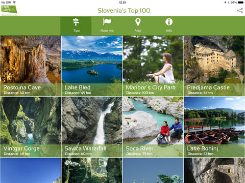 Slovenia's Top 100 for iPad