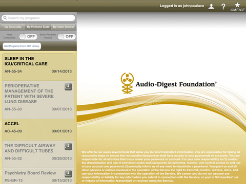 Audio Digest iPad Screenshot 1