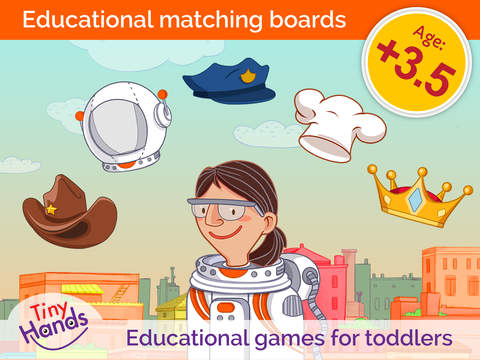 TinyHands What's my pair 3: Educational learning puzzles for toddlers and preschool kids
