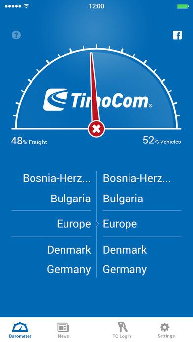 Transportbarometer Lite iPhone Screenshot 1