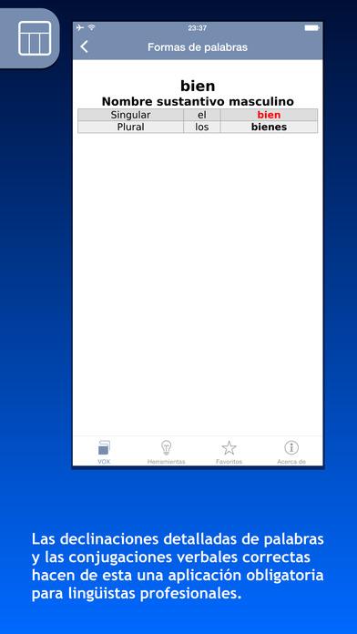VOX Catalan <-> Spanish Dictionary iPhone Screenshot 5
