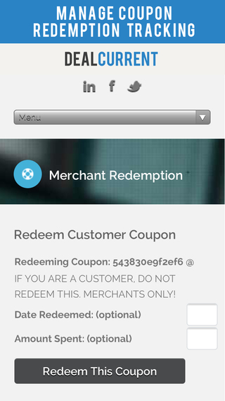 DC Merchant QR Code Scanner – Coupon and Deal Redemption iPhone App