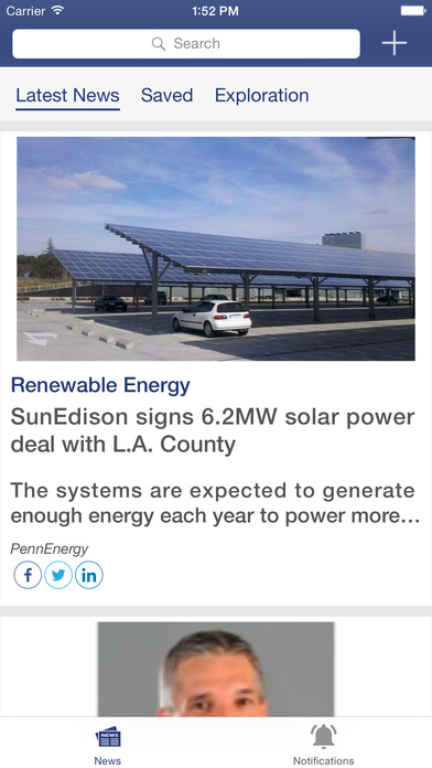 PennEnergy News Aggregator iPhone Screenshot 1
