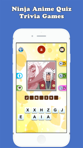 Anime Character Quiz App Answers : Guess the character ninja anime quiz trivia games fc