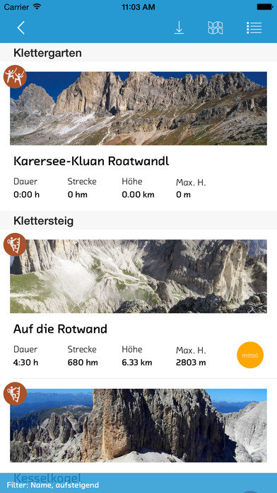 sentres Südtirol iPhone Screenshot 4