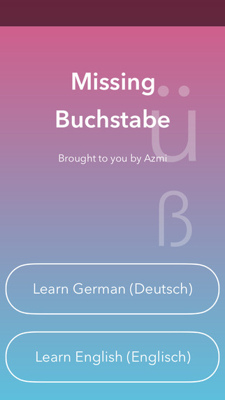 Missing Letter - Learn German English