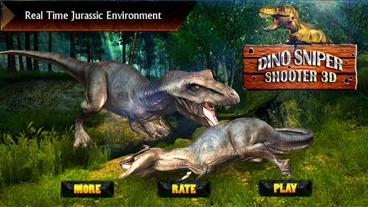Dino Sniper Shooter 3D - Shoot Hunt Carnivore Select Weapon and Kill Dangerous Dinosaurs