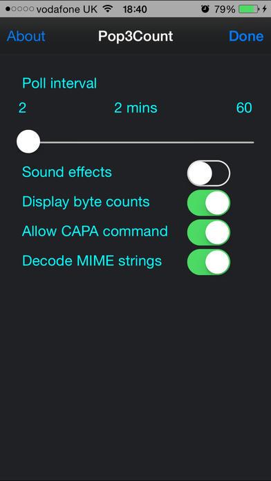 Pop3Count iPhone Screenshot 4