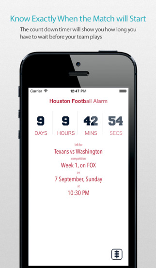 Houston Football Alarm