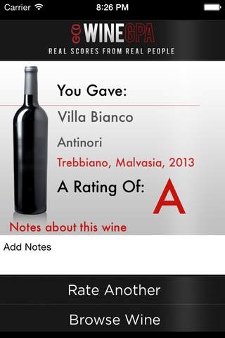 Wine GPA - Rate your Wine! screenshot 1