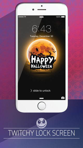 Halloween Backgrounds ® Pro - Retina wallpaper gallery of scary themes patterns shelves frames icons