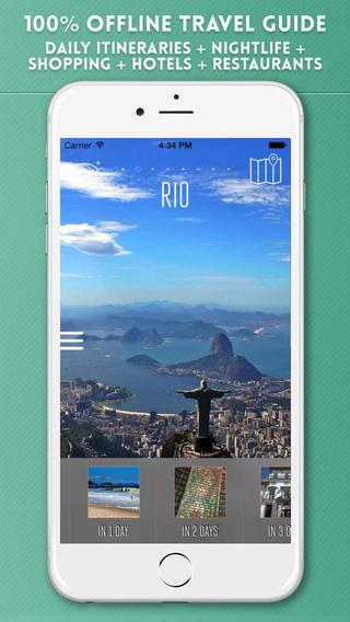 Rio de Janeiro Travel Guide with Offline City Street Maps